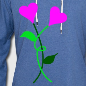 Heart Flowers - Light Unisex Sweatshirt Hoodie