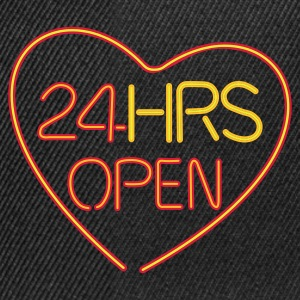 24 HRS OPEN for LOVE - Snapbackkeps
