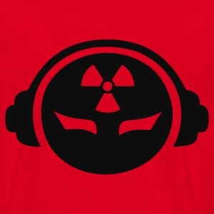 Red Radioactive DJ Coats & Jackets - Men's T-Shirt