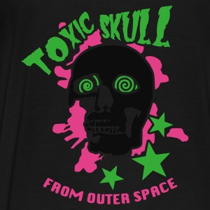 Noir Toxic Skull From Outter Space Vestes - T-shirt Premium Homme