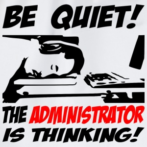 be quiet - the administrator - Turnbeutel