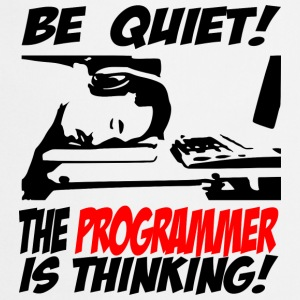 be quiet - the programmer - Kochschürze