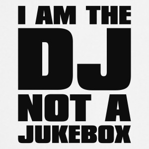 Biały DJ - I am the DJ not a jukebox Czapki  - Fartuch kuchenny