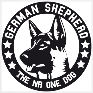 Vit German Shepherd T-shirts - Förkläde