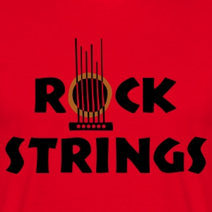 Rot rock_strings Pullover - Männer T-Shirt