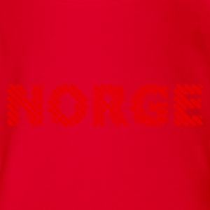 Rot Norwegen - Norway - Norges Kinder Shirts - Baby Bio-Kurzarm-Body