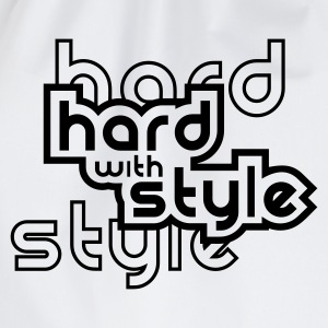 Weiß Hard with style T-Shirts - Turnbeutel