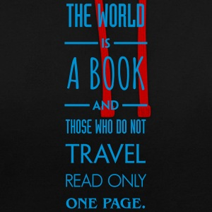 The world is a book. - Contrast Colour Hoodie