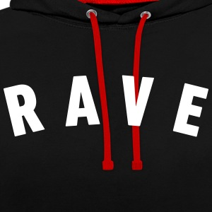 RAVE - Contrast Colour Hoodie