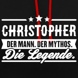 Man Myth Legend Christopher - Contrast Colour Hoodie