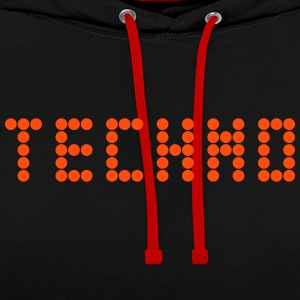 techno - Contrast hoodie