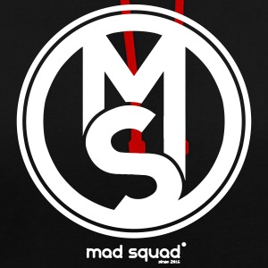 Squad Mad Man Fan T-Shirt - Contrast Colour Hoodie