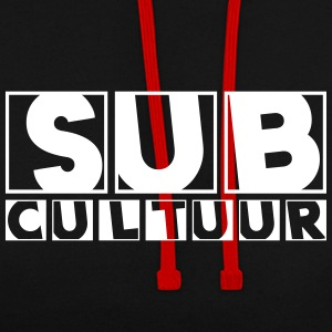 23 0127 subcultuur - Contrast Colour Hoodie