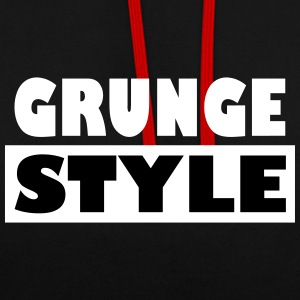 style grunge - Sweat-shirt contraste