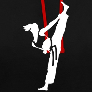 Female martial artist - Contrast Colour Hoodie