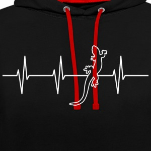 My heart beats for reptiles - Contrast Colour Hoodie