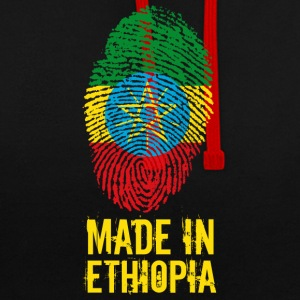 Made In Ethiopia / Äthiopien / ኢትዮጵያ - Kontrast-Hoodie