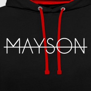 Mayson witte letters - Contrast hoodie