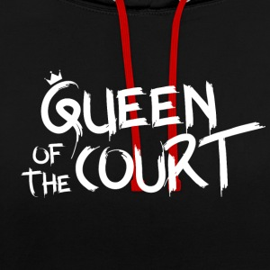 Queen of the court - Contrast Colour Hoodie