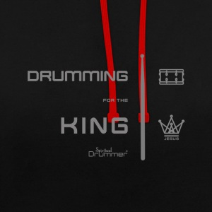 Drummer for the King - Contrast Colour Hoodie