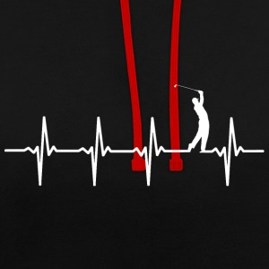 Your heart beats for golf? - Contrast Colour Hoodie