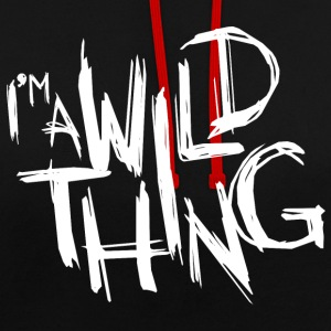 JE SUIS UN WILD THING - Sweat-shirt contraste
