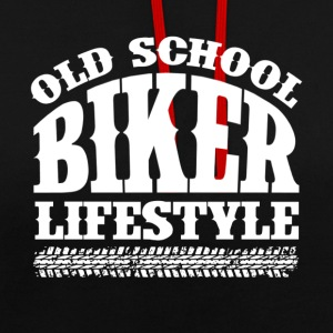 Old School Biker - Sweat-shirt contraste
