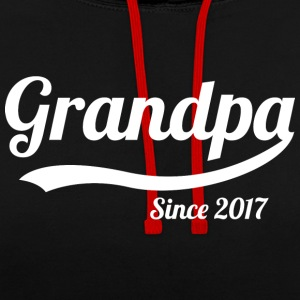 Grandpa 2017 - Contrast Colour Hoodie