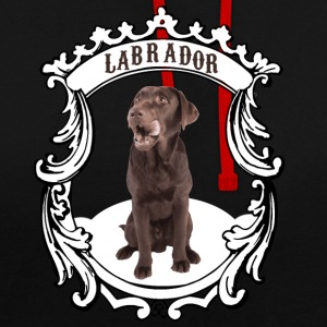 Labrador Retriever brown - this is my dog! - Contrast Colour Hoodie