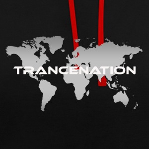 TRANCE NATION - Contrast Colour Hoodie