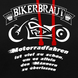 biker mariée - Sweat-shirt contraste