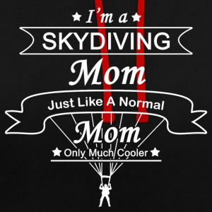Skydiving Mother: Original Gift Design - Contrast Colour Hoodie