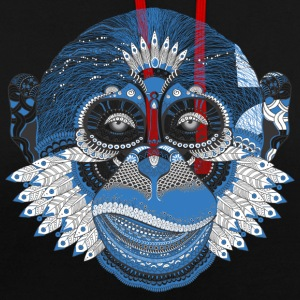 Indian gorilla head - Contrast Colour Hoodie