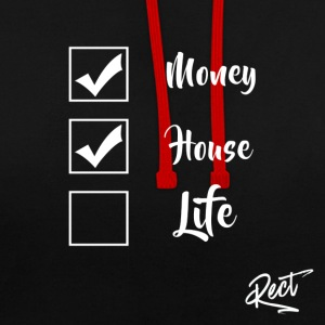 (MEN) MONEY HOUSE AND LIFE - Kontrastluvtröja