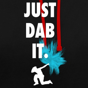 just_dub it dance gesturing symbol typo farbklecks - Contrast Colour Hoodie