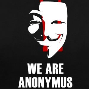 anonymus we are mask demonstration white revolutio - Kontrast-Hoodie
