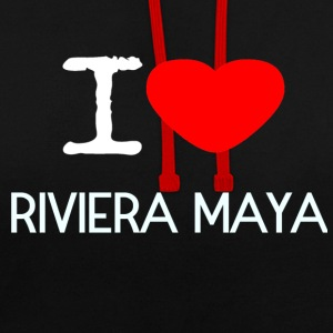 I LOVE RIVIERA MAYA - Contrast Colour Hoodie