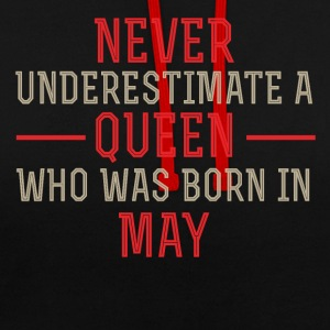 Queen May Birthday - Contrast Colour Hoodie