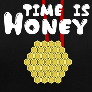 ++ ++ Time is Honey - Contrast Colour Hoodie