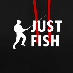 Just Fish fishing - Contrast Colour Hoodie