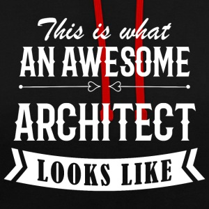 Awesome Architect - Kontrast-Hoodie