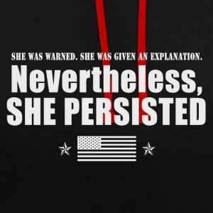She was Warned 3 - Kontrast-Hoodie