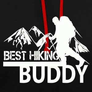 Best Hiking Buddy - love to hike! - Contrast Colour Hoodie