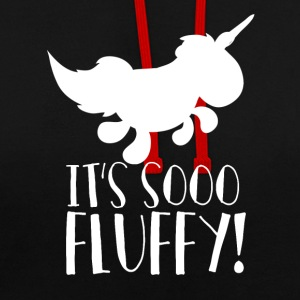 Unicorn - So flauschig! - So fluffy - Kontrast-Hoodie