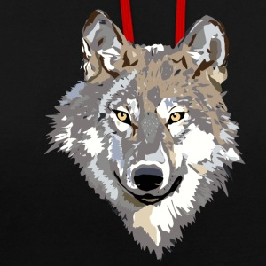 The wolf - Contrast Colour Hoodie