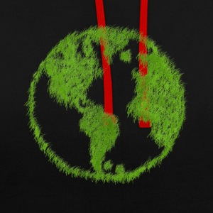 Green Grass World - Contrast Colour Hoodie