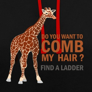 GIRAFE, DO YOU WANT TO COMB MY HAIR? - Contrast Colour Hoodie