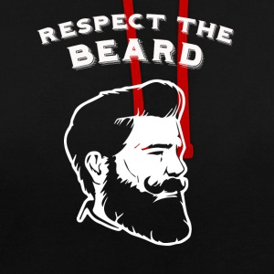 Respectez la barbe! - Sweat-shirt contraste