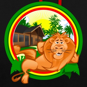 Rasta Lion Chilling - Sweat-shirt contraste