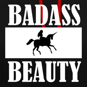 BADASS BEAUTY - Contrast Colour Hoodie